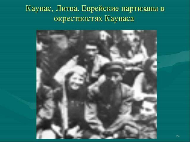 * Каунас, Литва. Еврейские партизаны в окрестностях Каунаса