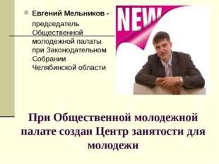 При Общественной молодежной палате создан Центр занятости для молодежи Евгени