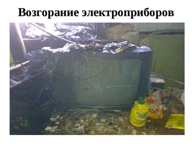 Возгорание электроприборов