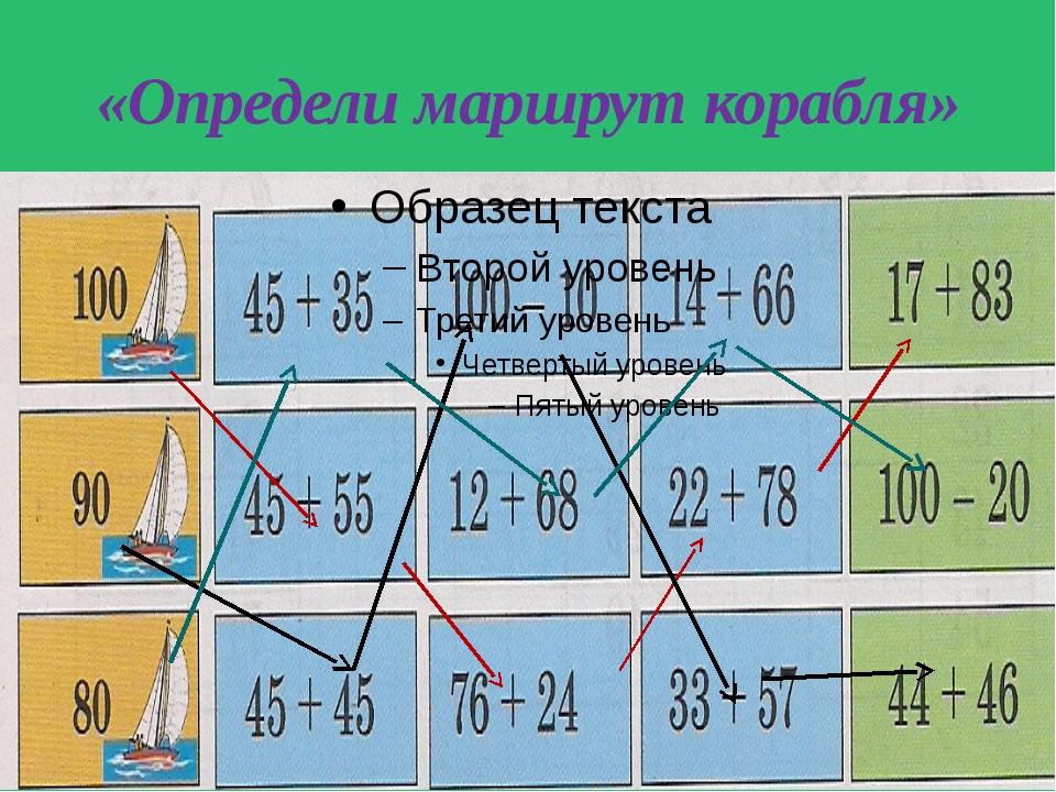 «Определи маршрут корабля»