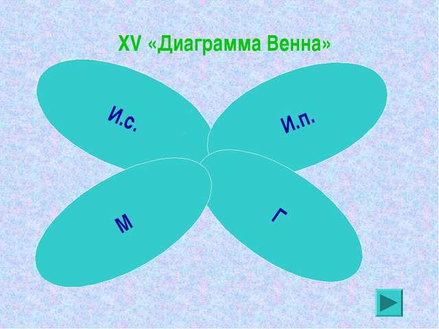 XV «Диаграмма Венна» И.с. И.п. Г М