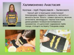 Халимоненко Анастасия Коллаж - герб Переславля – Залесского Черный цвет в гер
