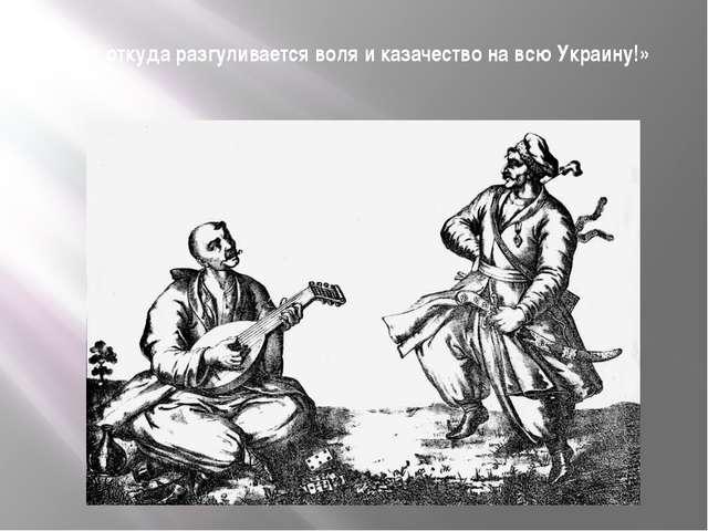 «Вот откуда разгуливается воля и казачество на всю Украину!»
