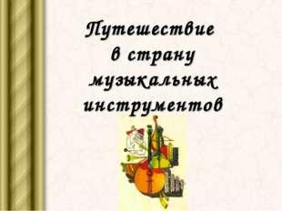 Путешествие в страну музыкальных инструментов