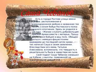 Саша Чебанов Есть в городе Ростове улица имени Чебанова, расположенная в Желе