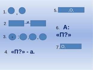 1. 2. ,и 3. : , , о 4. «П?» - а. 5. ,О, 6. А: «П?» 7. О, ,