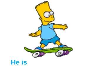 He is skating.