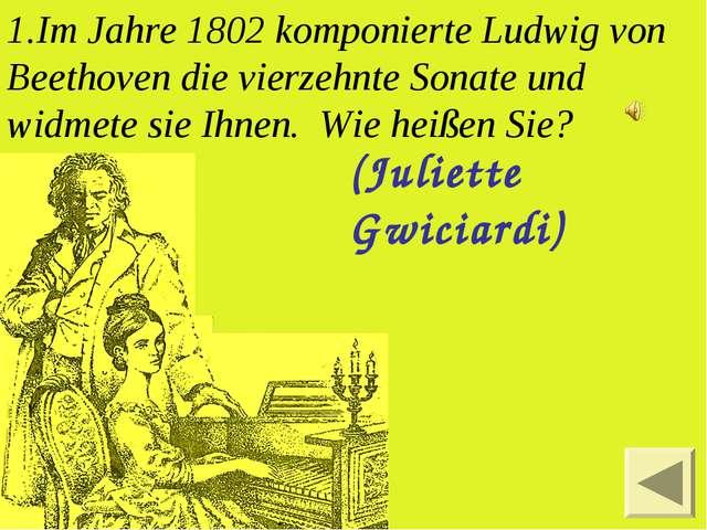Im Jahre 1802 komponierte Ludwig von Beethoven die vierzehnte Sonate und widm...