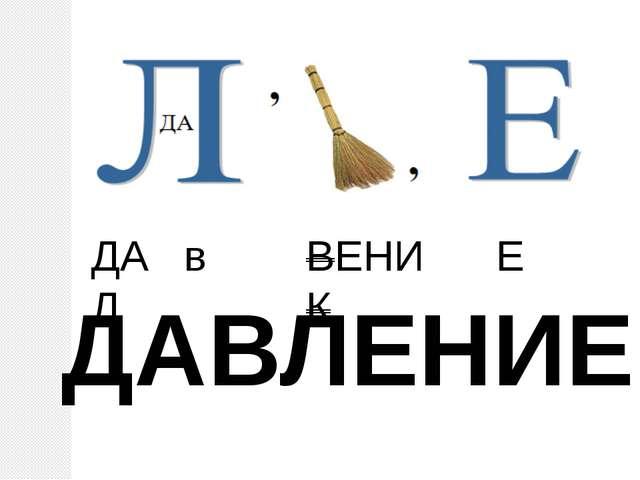 ДА в Л ВЕНИК Е ДАВЛЕНИЕ
