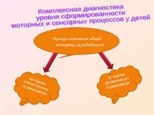 Оценка состояния общей моторики складывается из оценки статистического равно