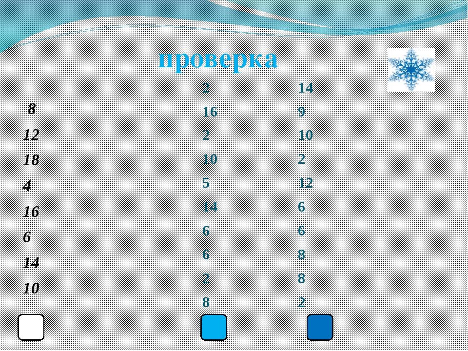 8 12 18 4 16 6 14 10 2 14 16 9 2 10 10 2 5 12 14 6 6 6 6 8 2 8 8 2 проверка