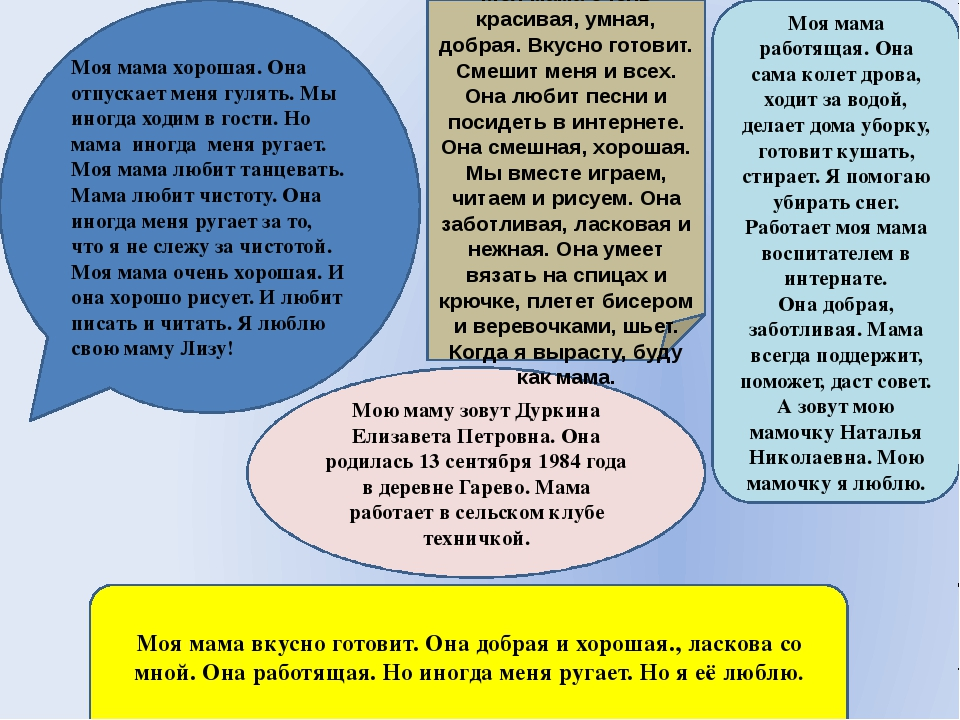 Мою маму зовут Дуркина Елизавета Петровна. Она родилась 13 сентября 1984 года...