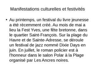 Manifestations culturelles et festivités Au printemps, un festival du livre j