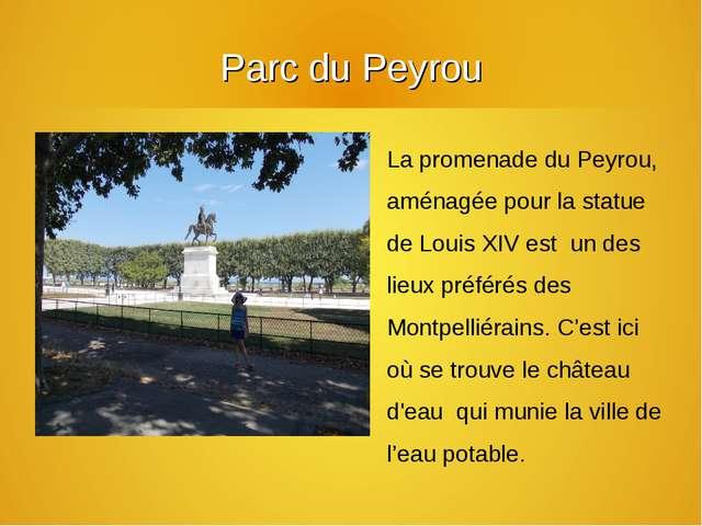 Parc du Peyrou La promenade du Peyrou, aménagée pour la statue de Louis XIV e...
