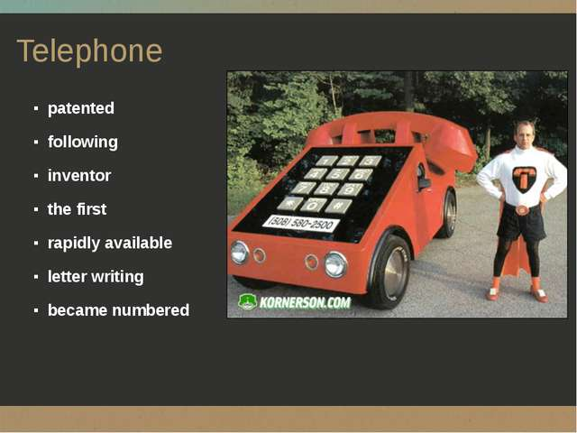 Telephone patented following inventor the first rapidly available letter writ...