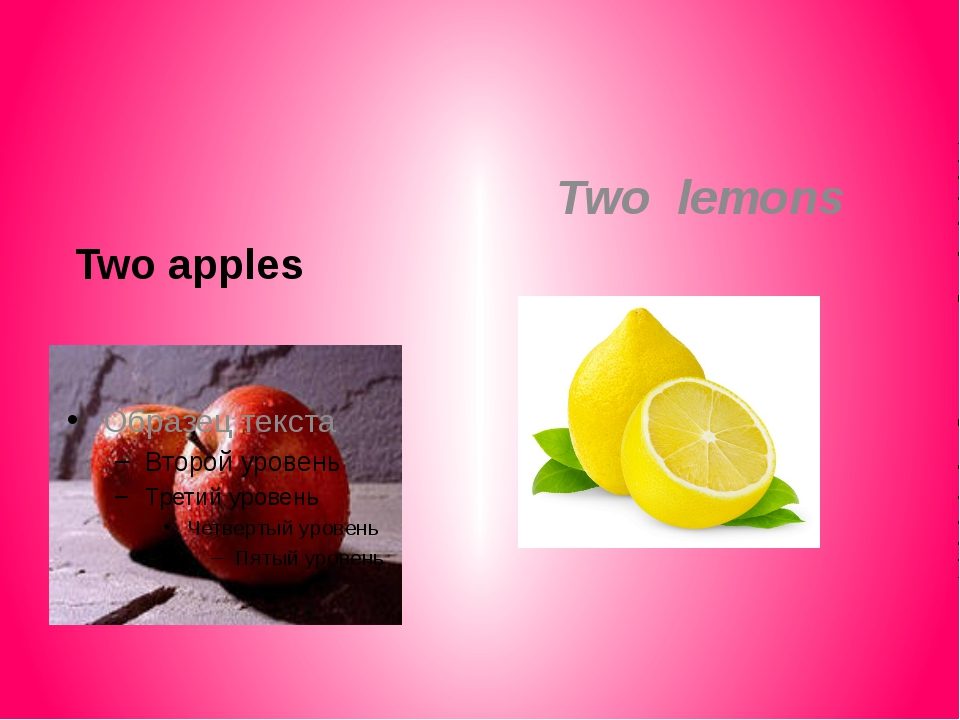 Two apples Two lemons