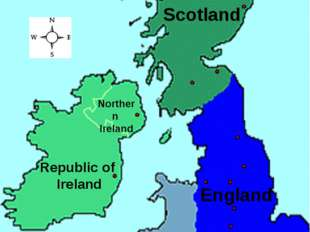 Map of the UK and Ireland England Republic of Ireland Wales Scotland Northern