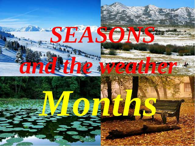 The 13th of February Class work SEASONS and the weather Months