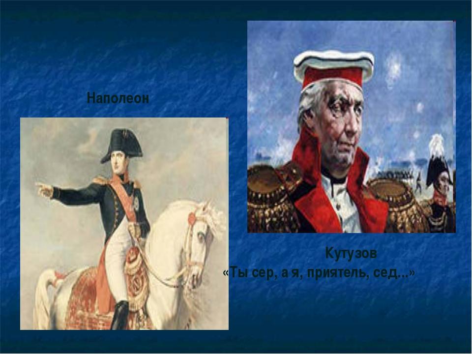 Наполеон Кутузов «Ты сер, а я, приятель, сед...»