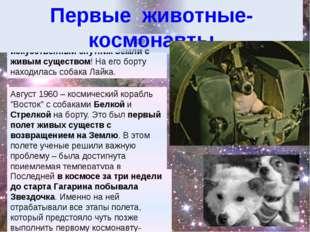 3 ноября 1957 –- первый в мире искусственный спутник Земли с живым существом!