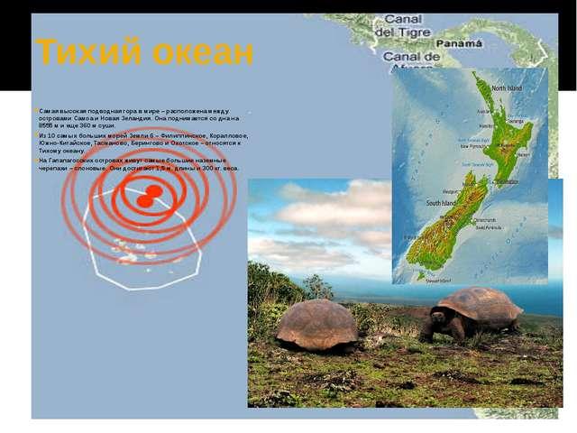 Тихий океан Самая высокая подводная гора в мире – расположена между островами...