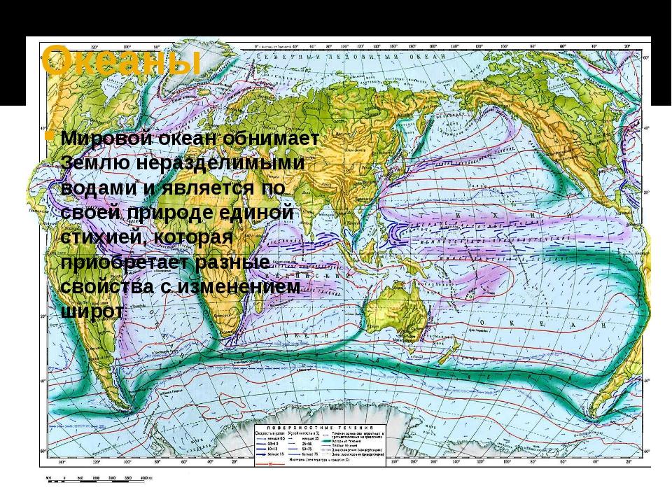 Океаны Мировой океан обнимает Землю неразделимыми водами и является по своей...