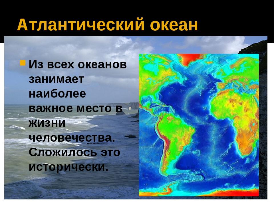 Атлантический океан Из всех океанов занимает наиболее важное место в жизни че...