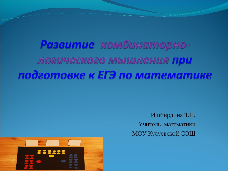 Ишбирдина Т.Н. Учитель математики МОУ Кулуевской СОШ