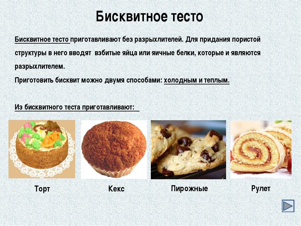 Рецепты из бисквитного теста