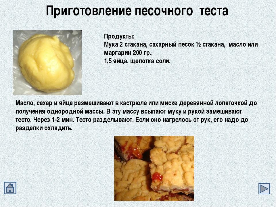 Рецепты изготовления из теста
