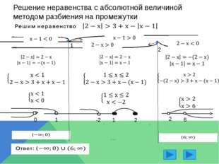 Решение неравенств с использованием свойства модуля Объединим -4,7 -1,5 -1,3
