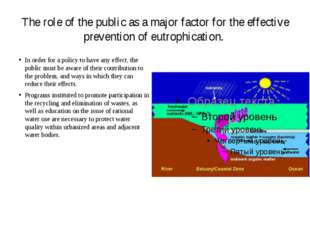The role of the public as a major factor for the effective prevention of eutr