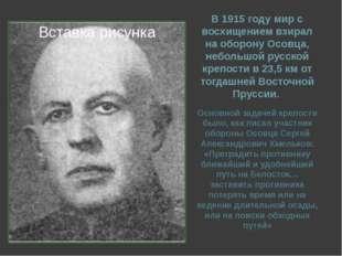 В 1915 году мир с восхищением взирал на оборону Осовца, небольшой русской кре