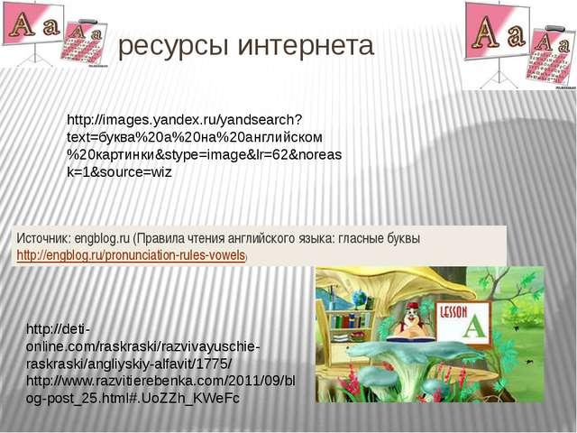 Ht ресурсы интернета Источник: engblog.ru (Правила чтения английского языка:...