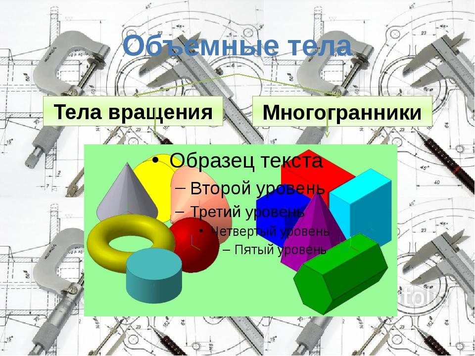 Объемные тела Тела вращения Многогранники