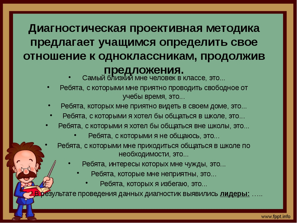 Диагностическая проективная методика предлагает учащимся определить свое отн...
