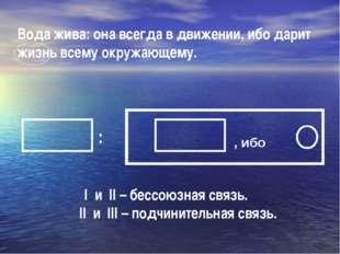 Вода жива: она всегда в движении, ибо дарит жизнь всему окружающему. I и II –