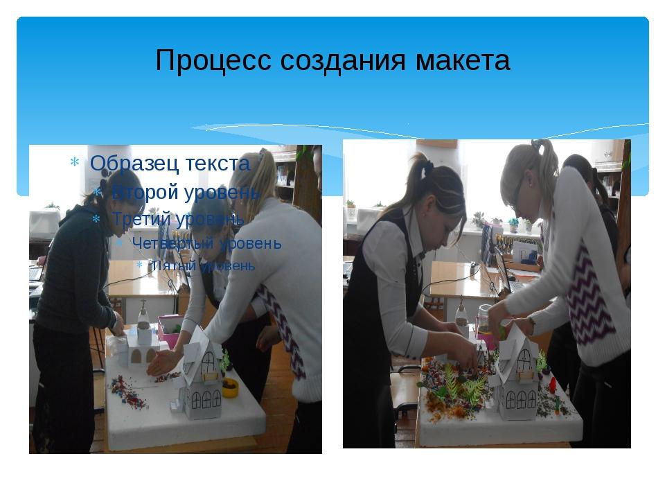 Процесс создания макета