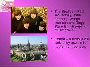 The Beatles – Paul McCartney, John Lennon, George Harrison and Ringo Starr-
