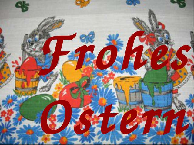 Frohes Ostern!