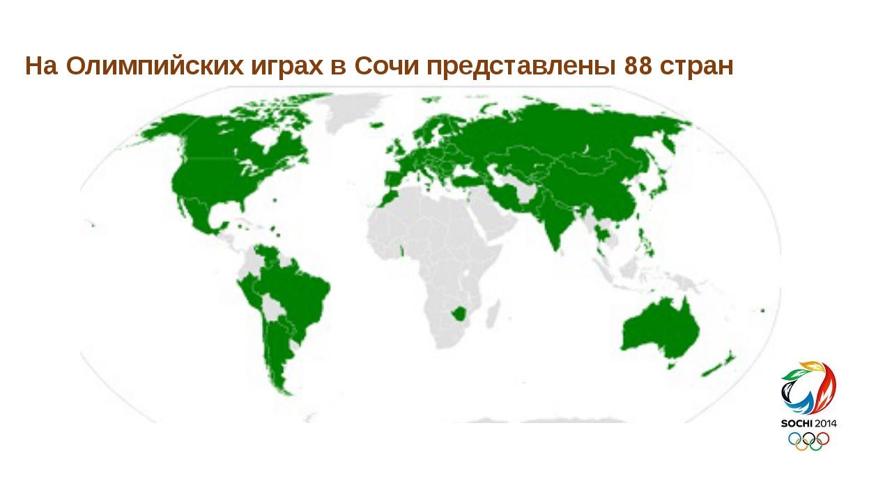На Олимпийских играх в Сочи представлены 88 стран