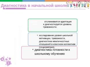 Диагностика в начальной школе 1-4классы дошкоольник переход Средняя школа диа