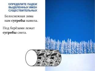 Под берёзами лежат сугробы снега. И.п. Белоснежная зима нам сугробы намела. В