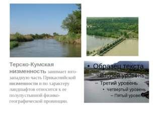 Терско-Кумская низменность занимает юго-западную часть Прикаспийской низменно