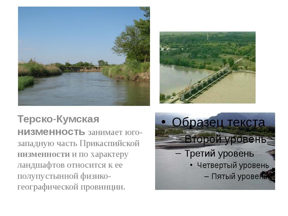Терско-Кумская низменность занимает юго-западную часть Прикаспийской низменно...