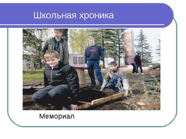 Мемориал Школьная хроника