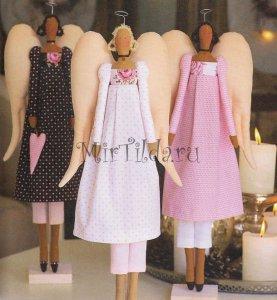 Винтажные ангелы тильда