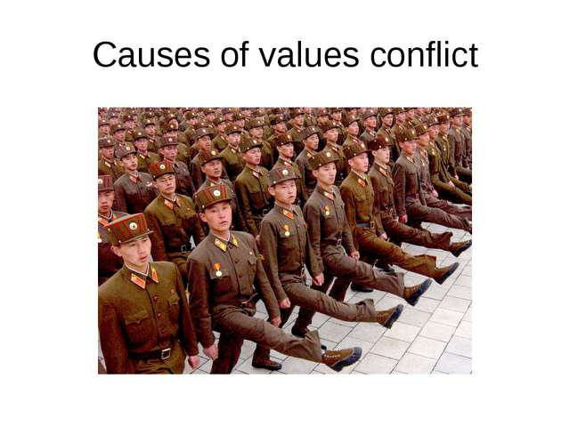 Causes of values conflict