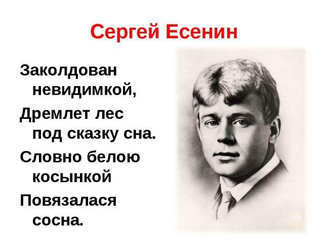 Сергей Есенин Заколдован невидимкой, Дремлет лес под сказку сна. Словно белою...