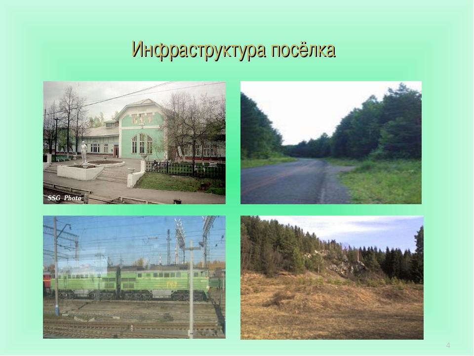 * Инфраструктура посёлка